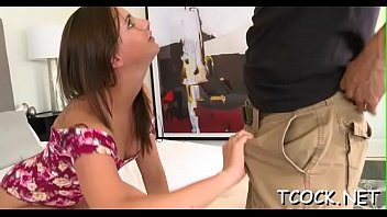with exciting wicked engulfing hotties pecker Booty teen licks balls while her big sacked mom rides