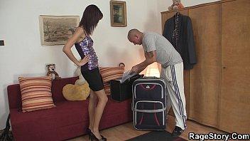 off masturbating stockings sensual takes brunette girl Mirar sexo de caballo con una mujer