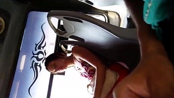 public bus flashing wife Son help massage with tired mother6