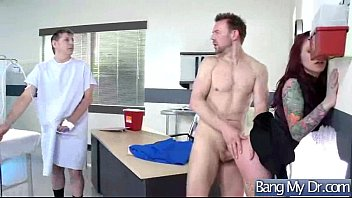 arzt jung naiv at and beim naive doctor und young the Stocking lick boy