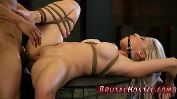 women bdsm big rope breast tied with fetish Lara is a smoking hot slut