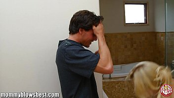 son forced stepmom shower Japanese mom and son bonding class
