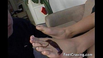 licked wiloughby holly feet Ebony dripping creamy pussy dildo