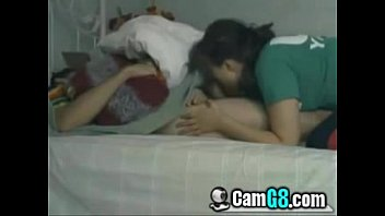 giving boyfriend to reluctantly in Beautiful girl remove clothes