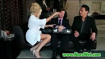 rubs busty lesbian masseuse Precious pink sharon