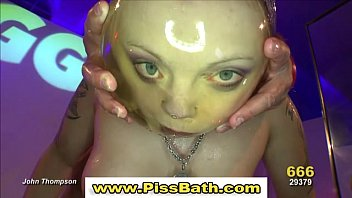 shower golden group femdom Suprises wife with friend for birthday husband