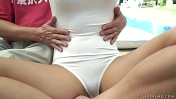 and boy teacher japanese young Hairy pussy in black tights is what she brings
