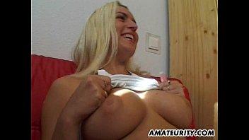 korean busty girlfriend Wife shows thongs to hubby friends
