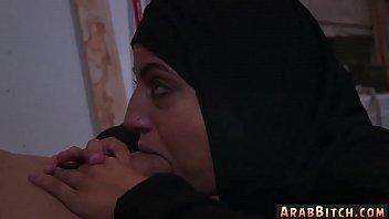 change hijab arab dress Wife surprise threeway